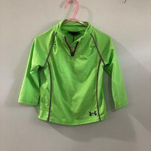 Under Armour Long Sleeve Pullover Green Purple 18M